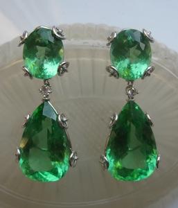 #ER016 Anjoli Faux Emerald