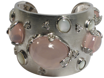 ROSE QUARTZ CUFF - ITALIAN COLLECTION