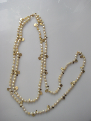 #N042 GYPSY - CHAMPAGNE PACETED PEARLS