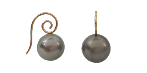 WARM GRAY TAHITIAN PEARL ON 18K GOLD CPS WIRE