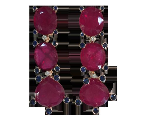 Samode Ruby Earrings