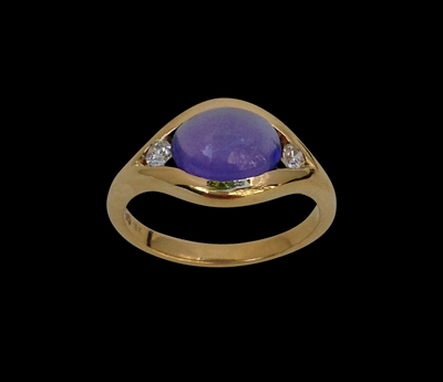 #R032 CPSJEWELS VIOLET EYE TO DIE FOR RING