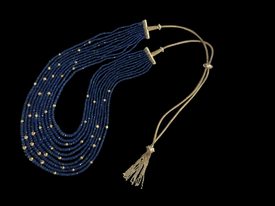 #N058 starry night Sapphire Necklace $ 40,000.00