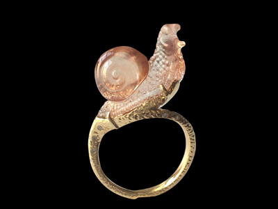 #R049 snail firestone ring $ 5,750.00