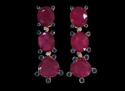 #ER059 cpsjewels Samode Ruby earrings