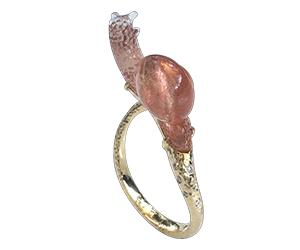 snail firestone ring