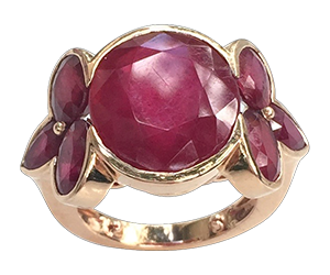 Samode Ruby Rose Ring