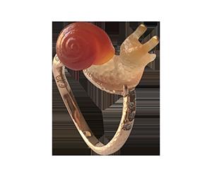snail agate ring