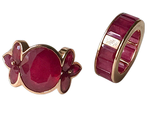 samode ruby and wheelband rings