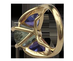Peacock ring